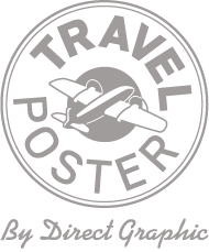 Logo rond Travel Poster by Direct Graphic