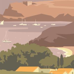 Gros plan de l'illustration Baie de Paulilles