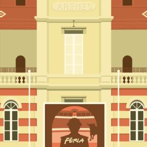 Gros plan de l'illustration Béziers les arènes