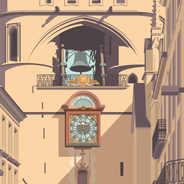 Gros plan de l'illustration Bordeaux Porte Saint-Éloi