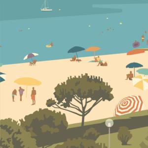 Gros plan de l'illustration Argelès plage des Pins