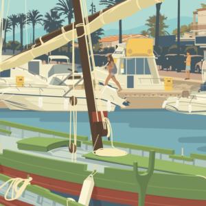 Gros plan de l'illustration Saint-Cyprien Le Port