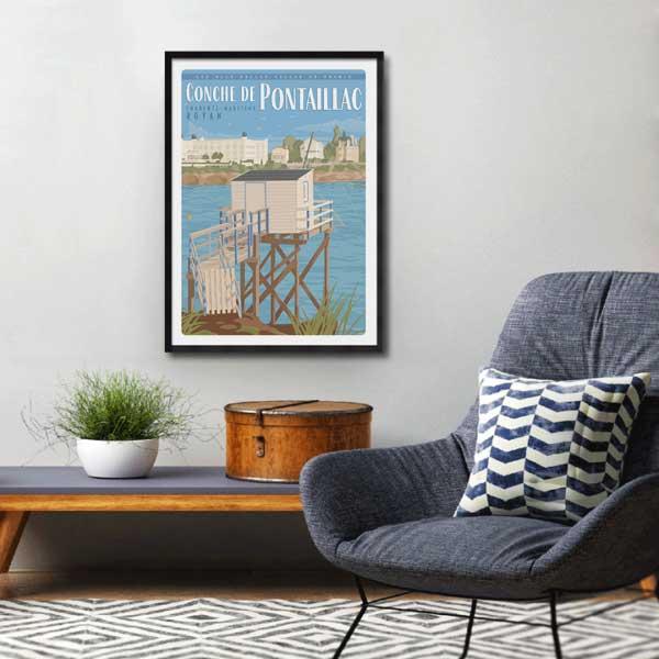 Affiche Royan - Conche de pontaillac