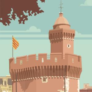 Gros plan de l'illustration Perpignan La Catalane