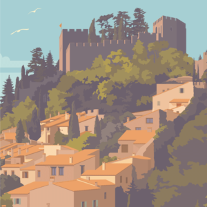 Gros plan de l'illustration Castelnou