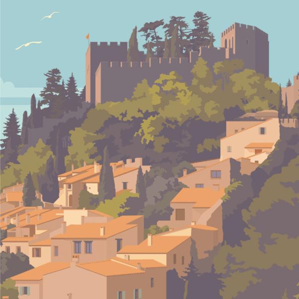 Gros plan de l'illustration Castelnou